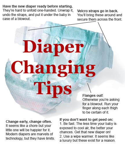 Diaper changing tips for twins
