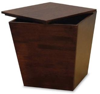 Wood Storage Ottoman