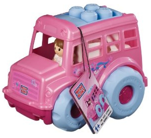 Mega Blocks Pink Bus