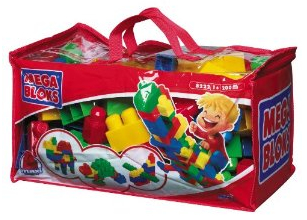 Mega Blocks 200 piece duffle bag