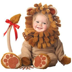Twin baby lion costume