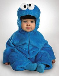 Twin baby cookie monster costume