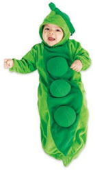 Twin baby Peapod costume