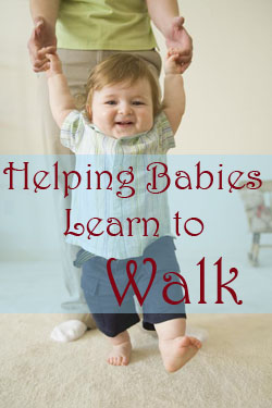 Teaching baby to walk