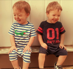 laughing toddler boys