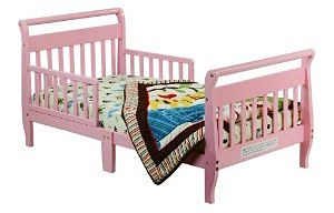 Simple Pink Toddler Bed