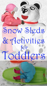 Snow activities and sleds for toddlers