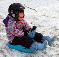 Toddler on Sled