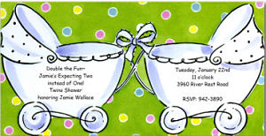 Double Buggy Shower Invites