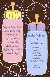 Twin Baby Shower Invites