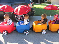 Toddler wagon activities