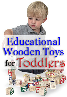 Educational wooden toys for toddlers