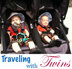 traveling with twins