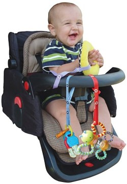 Stroller secure toy accessory