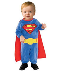 Twin baby superman costume