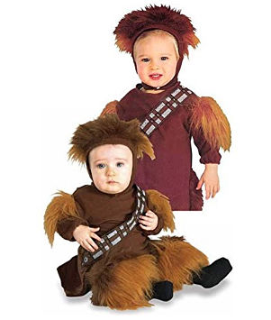 Twin baby Chewbacca costume